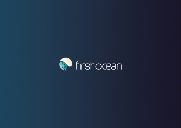 First ocean group logo corporate identity design - Blue ocean design ...
